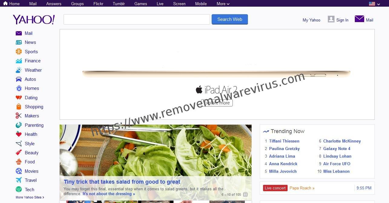 Yahoo main 1 Effective & Working Guide To Change Yahoo Homepage