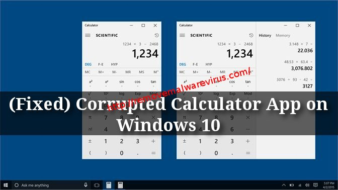 a412 e5b4 4be1 96cc 1c411253e734 How To Mend Corrupted Calculator App on Windows 10?