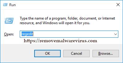 regedit via run Best Method To Fix The Javaw.exe Error On Windows